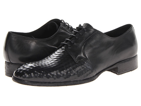 Pantofi Alexander McQueen - Studded Albert Lace Up - Black/White