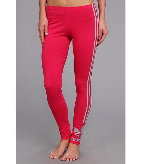 Pantaloni Adidas Originals - 3-Stripes Leggings - Vivid Berry/Mid-Grey
