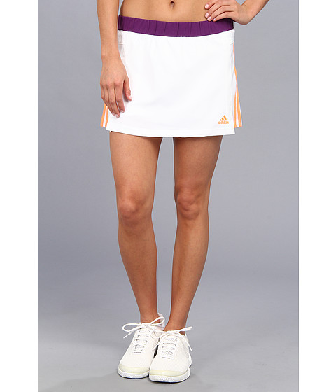 Pantaloni adidas - Response Skort - White/Glow Orange/Glow Purple