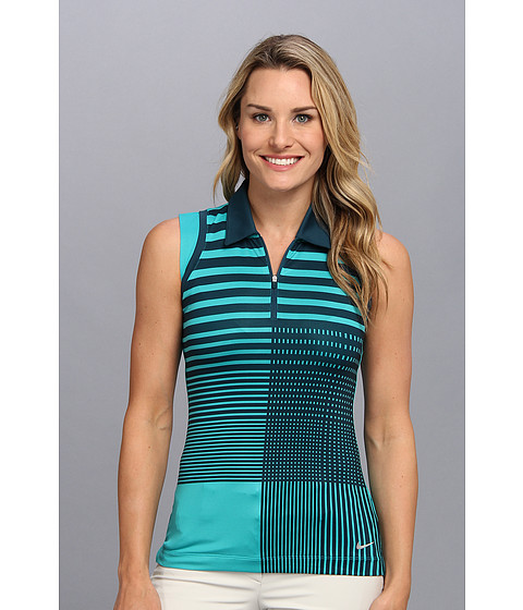 Bluze Nike - Graphic Sleeveless Polo - Turbo Green/Nightshade/Metallic Silver