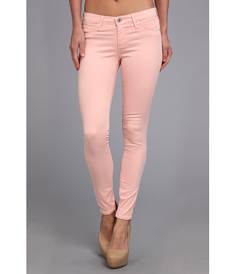 Pantaloni AG Adriano Goldschmied - Zip-Up Legging Ankle Sateen - Pink Haze
