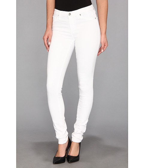 Blugi AG Adriano Goldschmied - The Middi Mid-Rise Legging in White - White