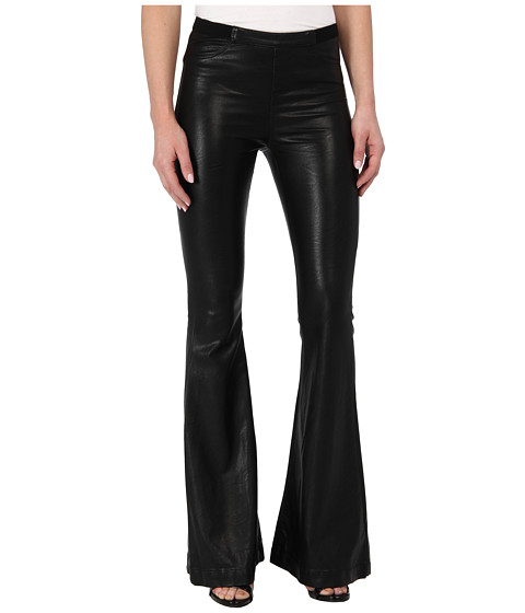 Pantaloni Blank NYC - Vegan Leather Belle Flare in Pussy Cat - Pussy Cat