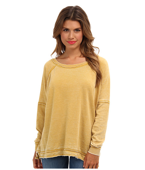 Bluze Free People - Never Can Tell Pullover - Golden