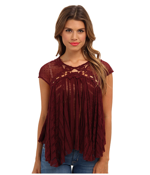Bluze Free People - Stars Align Top - Wine