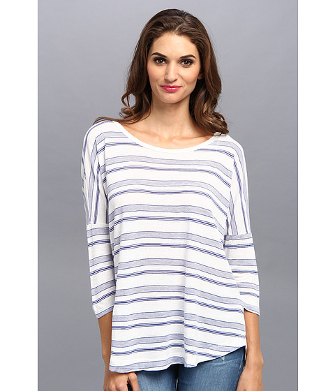 Bluze Splendid - Blue Ridge Stripe Dolman Tee - White
