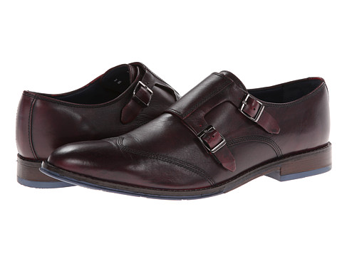 Pantofi Hush Puppies - Style Monk Strap - Dark Red Leather
